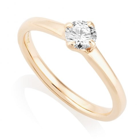 18ct Rose Gold 0.35ct. E/SI1 GIA Cert Solitaire Diamond Ring