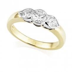 18ct three Stone Diamond RIng