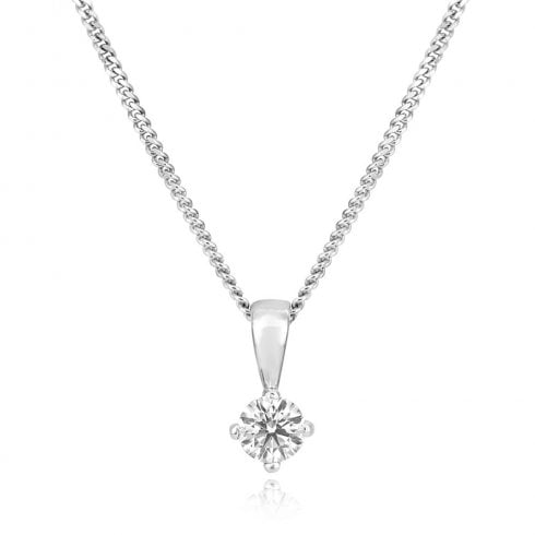 18ct White Gold 0.20ct Diamond Pendant