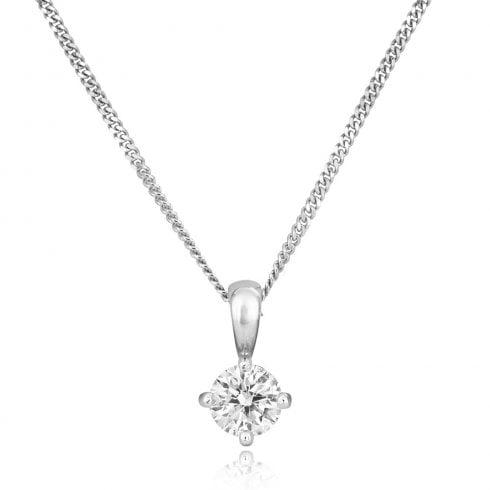 18ct White Gold 0.40ct Diamond Pendant