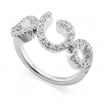 18ct White Gold 0.41ct. Diamond Swirl Ring