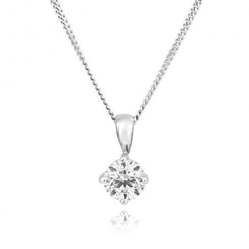 18ct White Gold 0.50ct Diamond Pendant