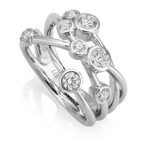 18ct White Gold 0.74ct. Diamond Crossover Ring