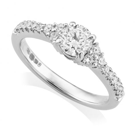 18ct White Gold 0.79ct. Multi Stone Diamond Ring
