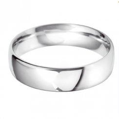 18ct White Gold 6.0mm Court Profile Wedding Ring