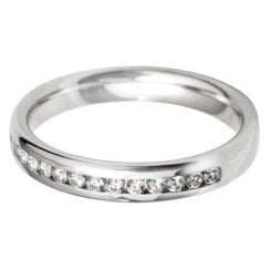 18ct. White Gold and Diamond 60% Channel Set Eternity Ring