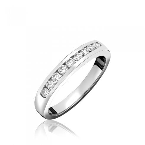 18ct. White Gold Diamond Channel Set Eternity Ring