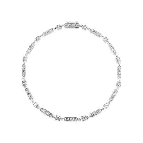 18ct White Gold Diamond Deco Bracelet