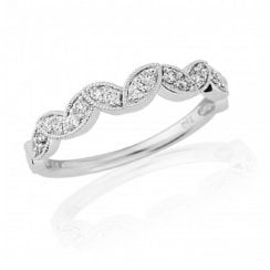 18ct White Gold Diamond Multi-Marquise Shaped Half Eternity