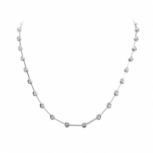 18ct White Gold Diamond Necklet