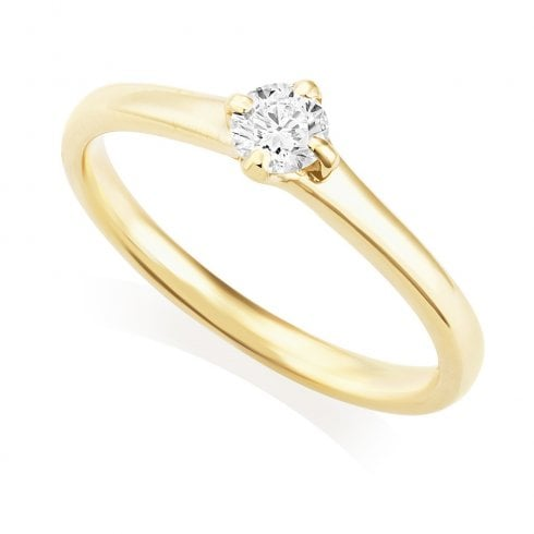 18ct Yellow Gold 0.24ct Solitaire Diamond Ring