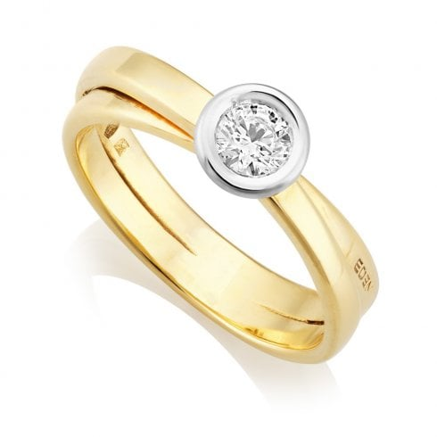 18ct Yellow Gold 0.30ct Solitaire Diamond Ring