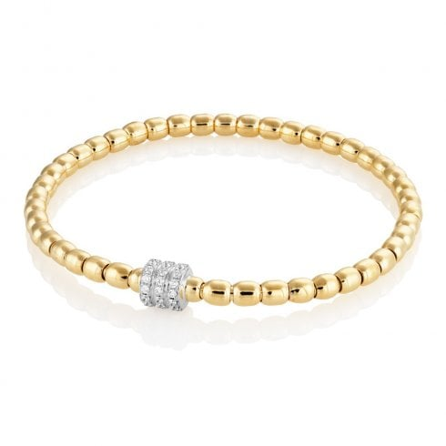 18ct Yellow Gold 0.38ct Diamond Bracelet