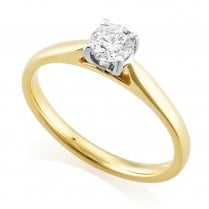 18ct Yellow Gold 0.40ct H/SI Solitaire Diamond Ring