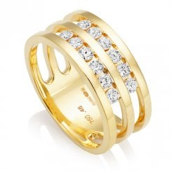 18ct Yellow Gold 0.46ct Diamond Ring
