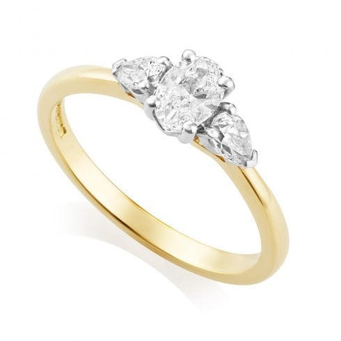18ct Yellow Gold 0.66ct Three Stone Diamond Ring