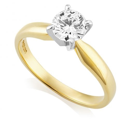 18ct Yellow Gold 0.72ct F/SI1 GIA Cert Solitaire Diamond Ring
