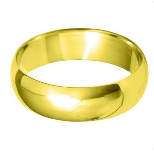 18ct Yellow Gold 5.0mm D-shaped Profile Wedding Ring