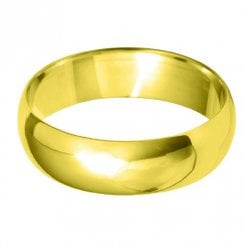 18ct Yellow Gold 6.0mm D-profile Wedding Ring