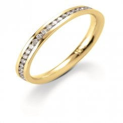 18ct. Yellow Gold and Diamond 60% Channel Set Eternity Ring