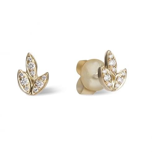 18ct Yellow Gold Diamond Barleycorn Earrings