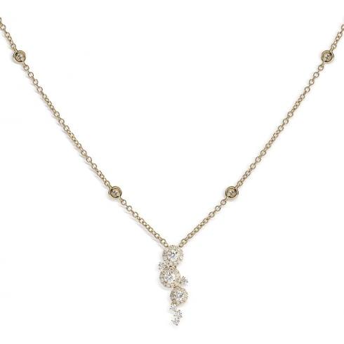 18ct Yellow Gold Diamond Cluster Pendant