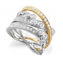 18ct Yellow & White Gold Diamond Multi-Strand Dress Ring