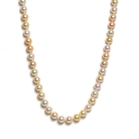 9ct Akoya Cultured Pearl Natural Multi-Colour Strand