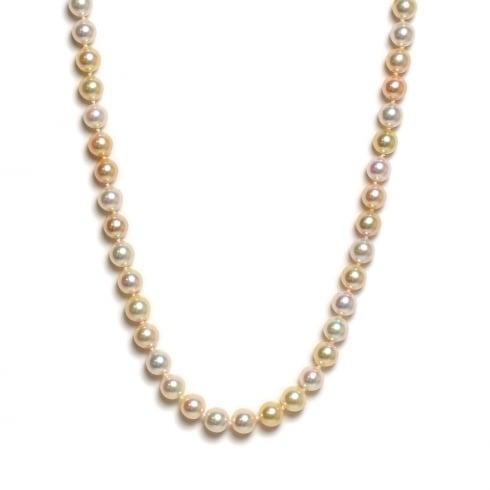 9ct Akoya Cultured Pearl Natural Multi-Colour Strand