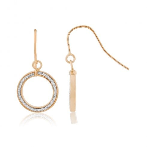 9ct Rose Gold Glitter Earrings