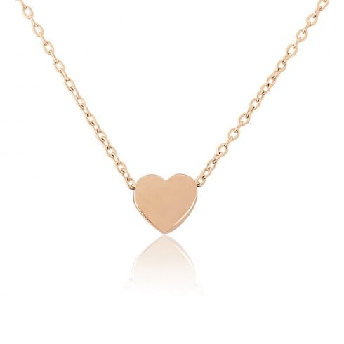 9ct Rose Gold Small Heart Charm Pendant
