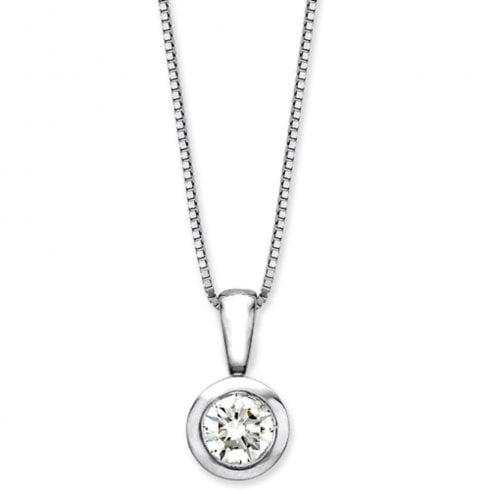 9ct White Gold 0.10ct Diamond Pendant