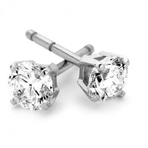 9ct White Gold 0.15ct Diamond Stud Earrings