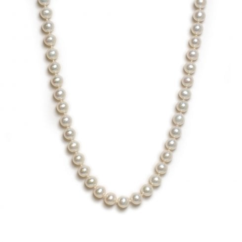 9ct White Gold Freshwater Cultured Pearl Strand
