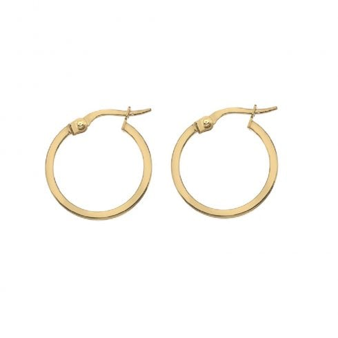 9ct Yellow Gold 10mm Hoop Earrings