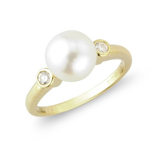 9ct yellow gold pearl and ring from colin cbell