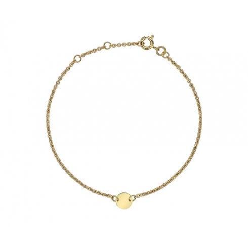 9ct Yellow Gold Disc Charm Bracelet