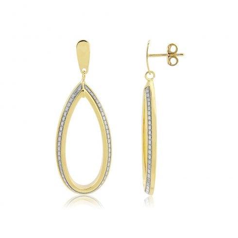 9ct Yellow Gold Glitter Earrings