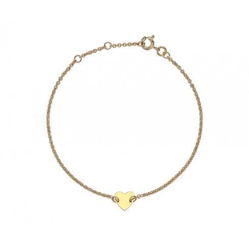 9ct Yellow Gold Heart Charm Bracelet