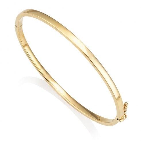 9ct Yellow Gold Hinged Bangle