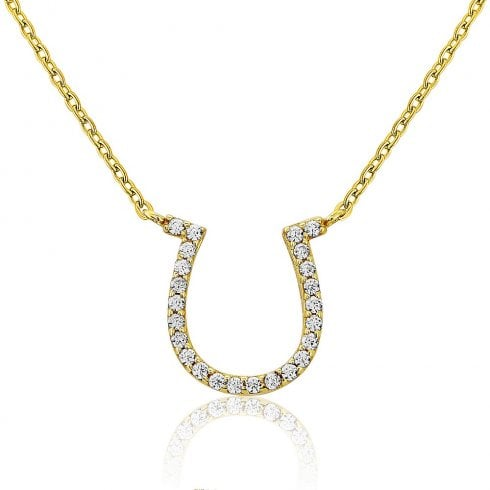 9ct Yellow Gold Horseshoe Pendant