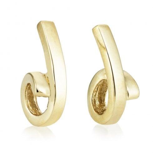 9ct Yellow Gold Loop Earrings
