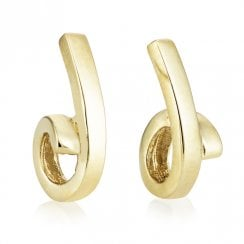 9ct Yellow Gold Loop Earrings