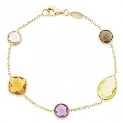 9ct Yellow Gold Multi-stone Bracelet