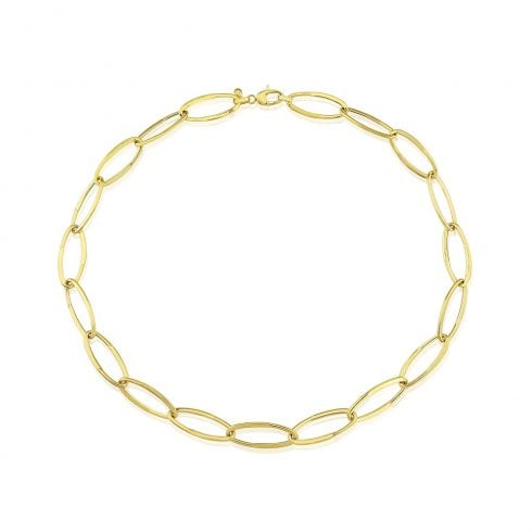9ct Yellow Gold Oval Link Necklet