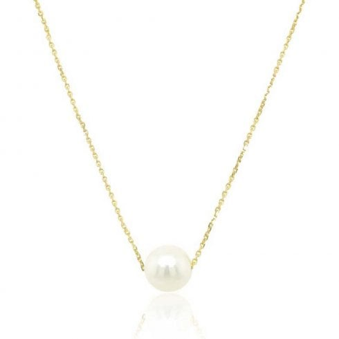 9ct Yellow Gold Pearl Necklet