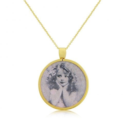 9ct Yellow Gold Picture Pendant