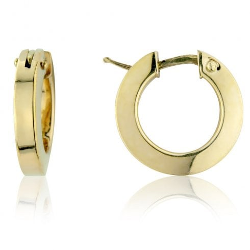 9ct Yellow Gold Round Hoop Earrings