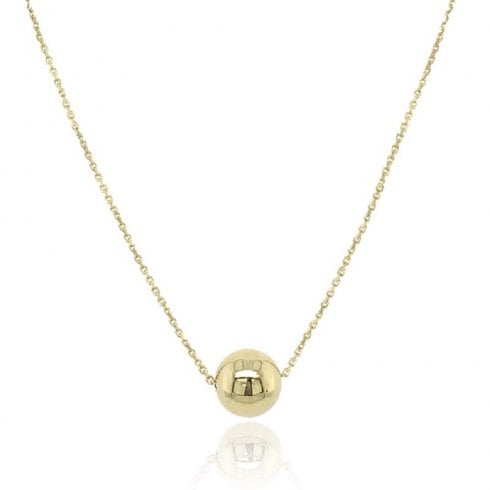 9ct Yellow Gold Single Bead Necklet