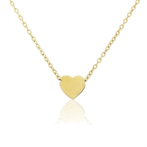 9ct Yellow Gold Small Heart Charm Pendant